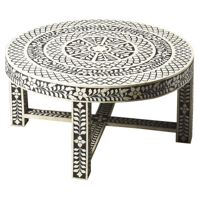 Black And White Striped Round Coffee Table: 124 Best Images About Inlay Furniture On Pinterest