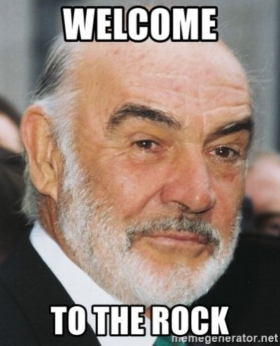 welcome to The Rock - sean connery
