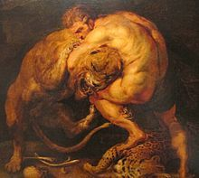 Hercules - Pieter paul rubens, ercole e i leone nemeo, 02.JPG