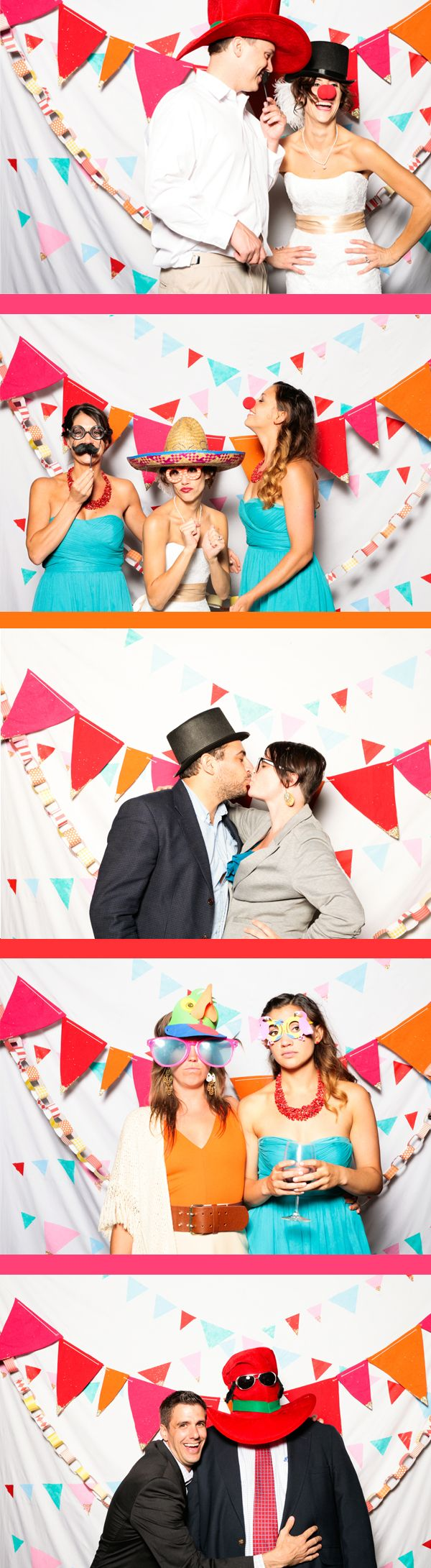 paper garland backdrop for photo booth