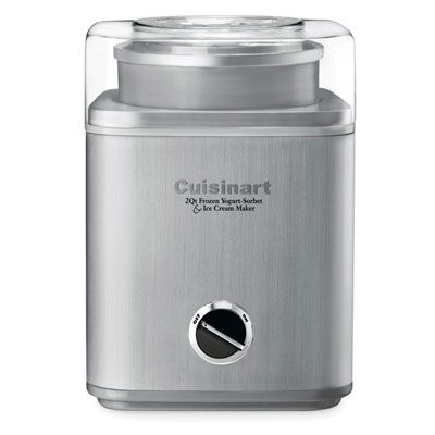 Staying cool this summer is a cinch with this stainless steel ice cream maker from Cuisinart, which churns out smooth, flavorful frozen treats in about 45 minutes. #dessert #sorbet: Icecream Maker