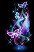 Smoke and butterfly — Stock vektor