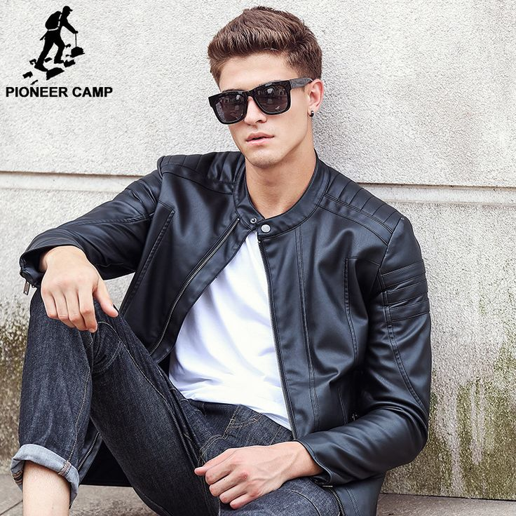 Pioneer Camp Motorcycle Leather Jackets Men Autumn Winter Leather Clothing Male casual Coats Brand clothing 611310