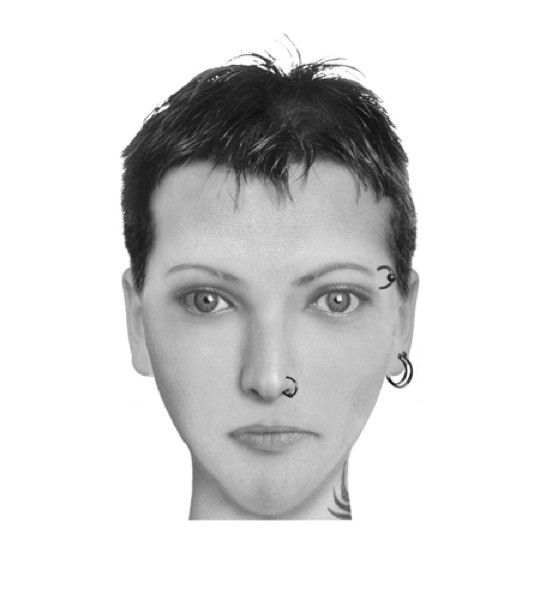 Book characters in police sketches - Lisbeth Salander
