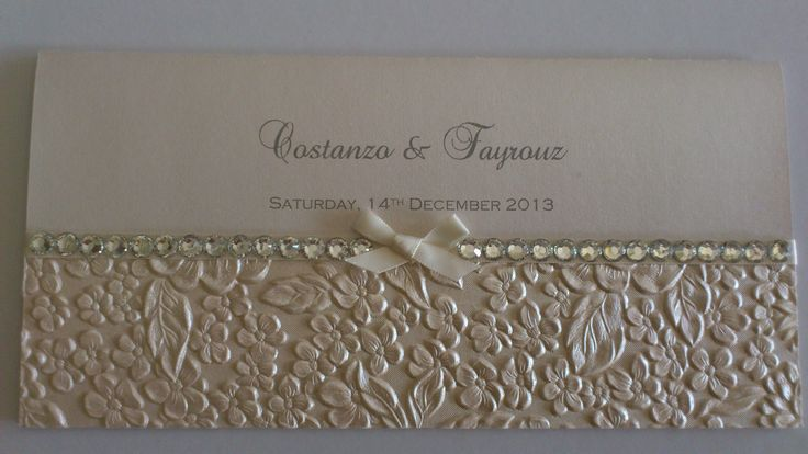 """""""Audrey"""" - with bling Wedding Invitations https://www.facebook.com/LuPerlaInvitations"""