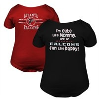 "Gerber Atlanta Falcons Infant Cute Fan 2-Pack Onesie Set - ""I'm cute like Mommy, and an Atlanta Falcons fan like Daddy!"""