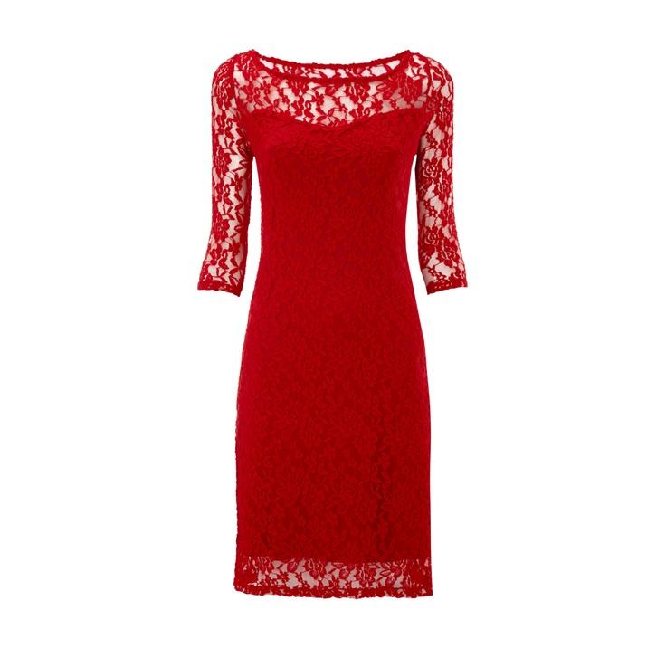 JAKE*S Kleid mit Dreiviertelarm