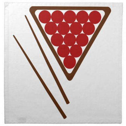 Snooker Rack and Snooker Cues Napkin - kitchen gifts diy ideas decor special unique individual customized