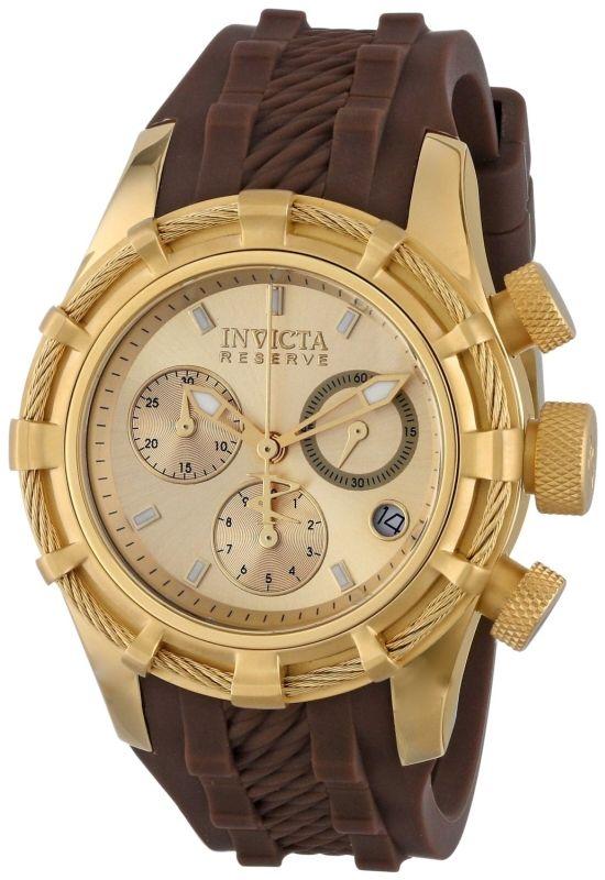 Invicta Women's 14782 Bolt Analog Display Swiss Quartz Brown Watch