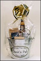 Affordable Beer Gift Basket. This would make a great groomsmen gift!
