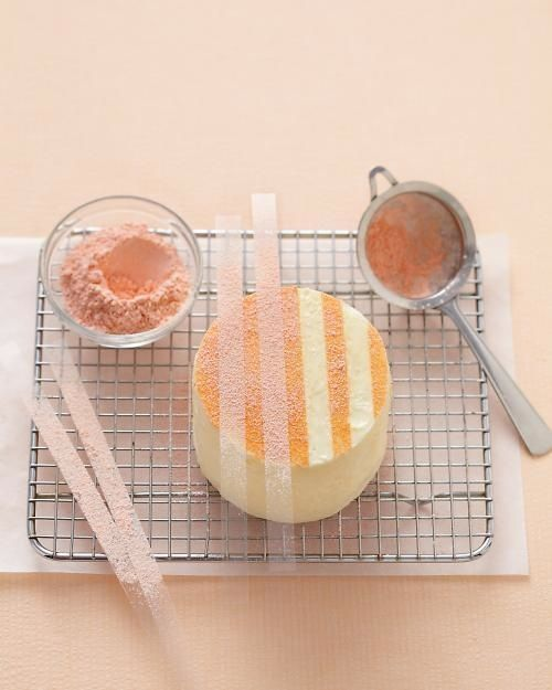 Consider this cake decorating for dummies—foolproof ways to make a layer cake look super impressive without a lot of fancy tools. Two even use store-bought candy.