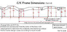 Chevy Truck Frame Dimensions and Specs - Chuck's Chevy Truck Pages.com