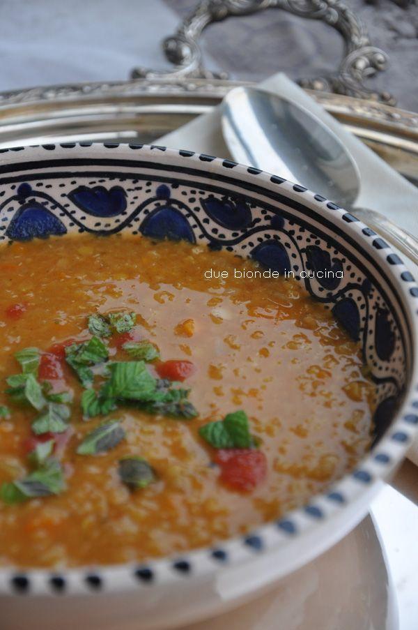 "Due bionde in cucina: Zuppa di lenticchie rosse  ""del Sultano"""