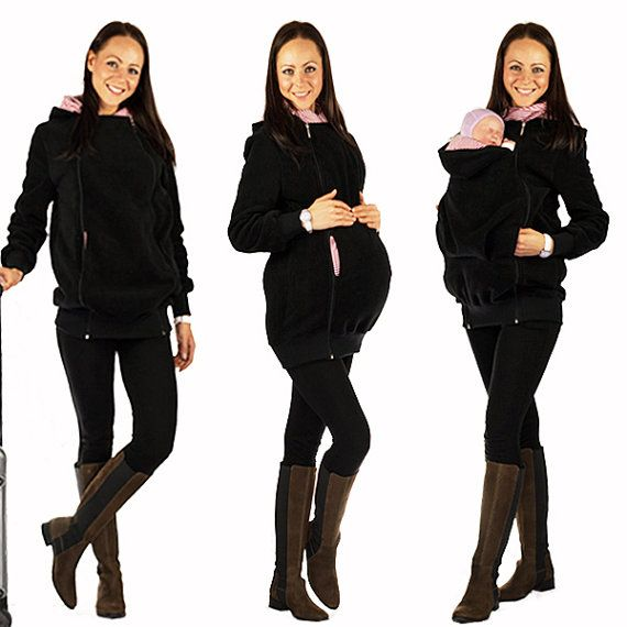4in1 Kangaroo maternity sweatshirt with baby carrying function - handmade with love by GoFuture
