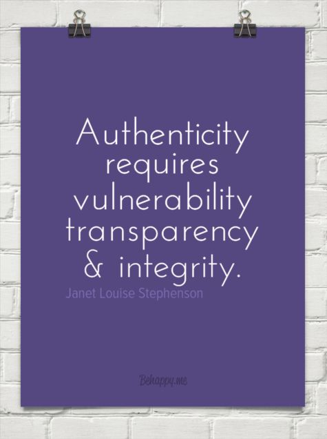 Really love this! Being authentic can be so challenging, but people respond to the genuine you