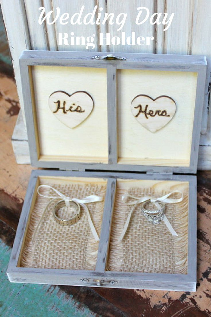 Personalised Wedding Ring Box,Rustic ring box,HisHers Wedding Ring Box,Ring Bearer Pillow,Wedding gift,Engagement ring box Ring Bearer Box