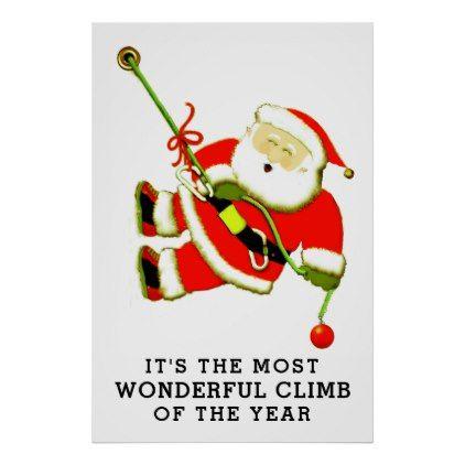rock climbing holidays poster - humor funny fun humour humorous gift idea