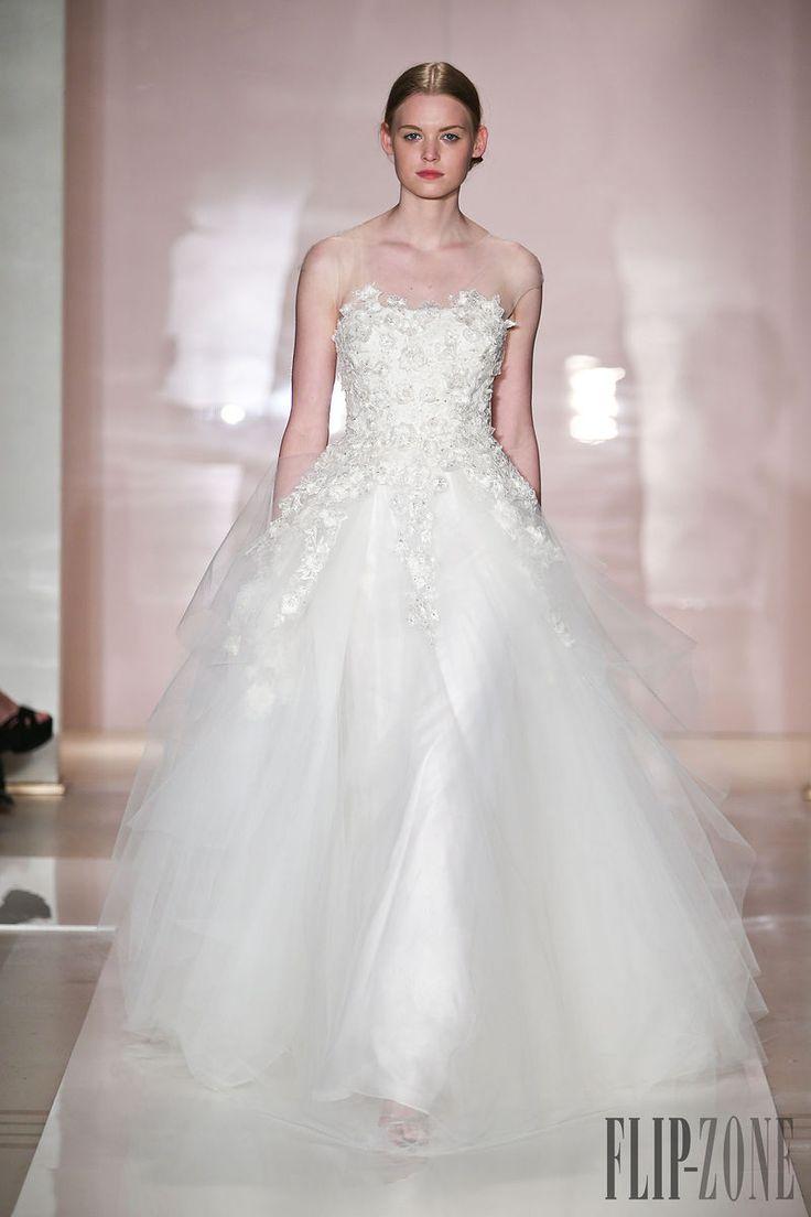 Reem Acra - Nupcial - Primavera-Verão 2014 - http://pt.flip-zone.com/fashion/bridal/couture/reem-acra-4403