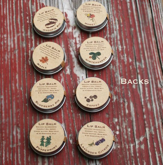 WEDDING GUEST FAVORS / custom lip balm wedding by mountainess