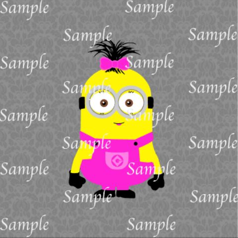 Girl Minion SVG, DXF, EPS, PNG Digital File – Wickedly Cute Designs