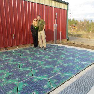 Solar Panel Floor Tiles