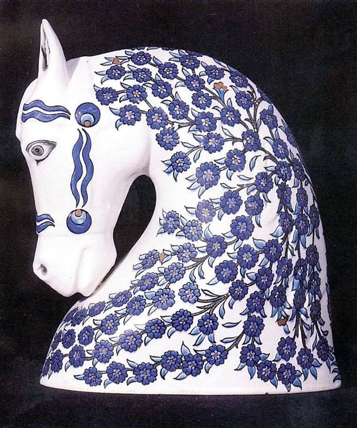 Ceramic horse`s head from Istanbul.