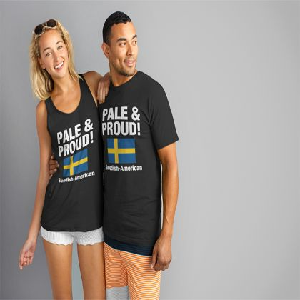 Swedish American T - PALE & PROUD! Swedish-American T-Shirt from Designs of Sweden | Teespring