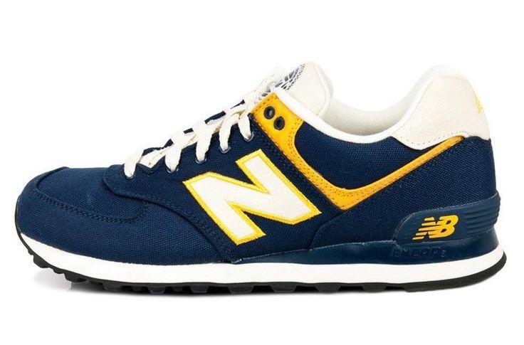New Balance ML574RUB Rugger-Pack Herren Sneaker tief marineblau/gelb/weiß Kaufen Günstig