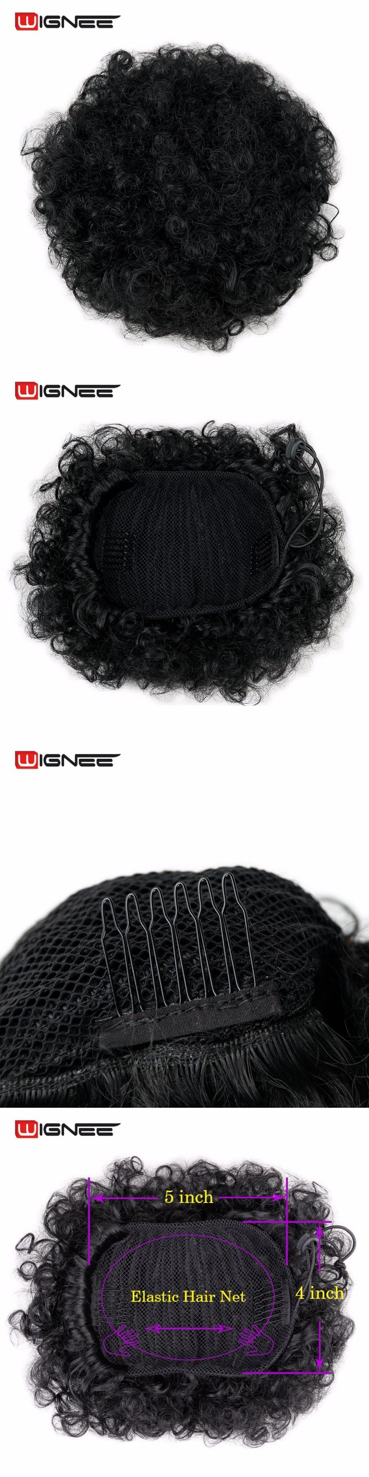 Wignee Curly Chignon Bun Clip-In False Trendy Hair Extension For Black/White Women High Density Temperature Synthetic Hairstyles