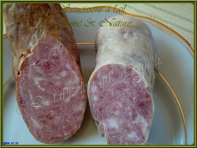 Rillettes maison  et saucisson nature (janvier 2004)      SAUCISSON A L'AIL MAISON NATURE, FUME, AUX PISTACHES...!   Depuis très...