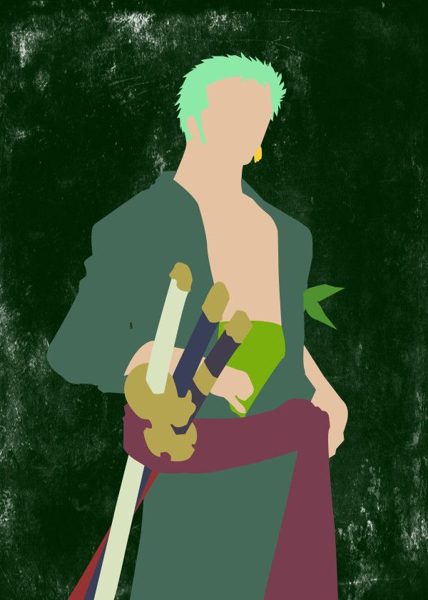 "One Piece Minimalist Characters Roronoa Zoro #Displate artwork by artist ""Seb D."". Part of a 9-piece set featuring minimalist artwork based on characters from the popular One Piece anime TV show. £37 / $50 per poster (Regular size), £66 / $89 per poster (Large size) #OnePiece #StrawHatPirates #PirateWarriors #GrandBattle #Anime #Manga #MonkeyDLuffy #PortgasDAce #RoronoaZoro #Sabo #TonyTonyChopper #Usopp"