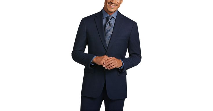 Check this out! Awearness Kenneth Cole Blue Slim Fit Suit - Slim Fit from MensWearhouse. #MensWearhouse