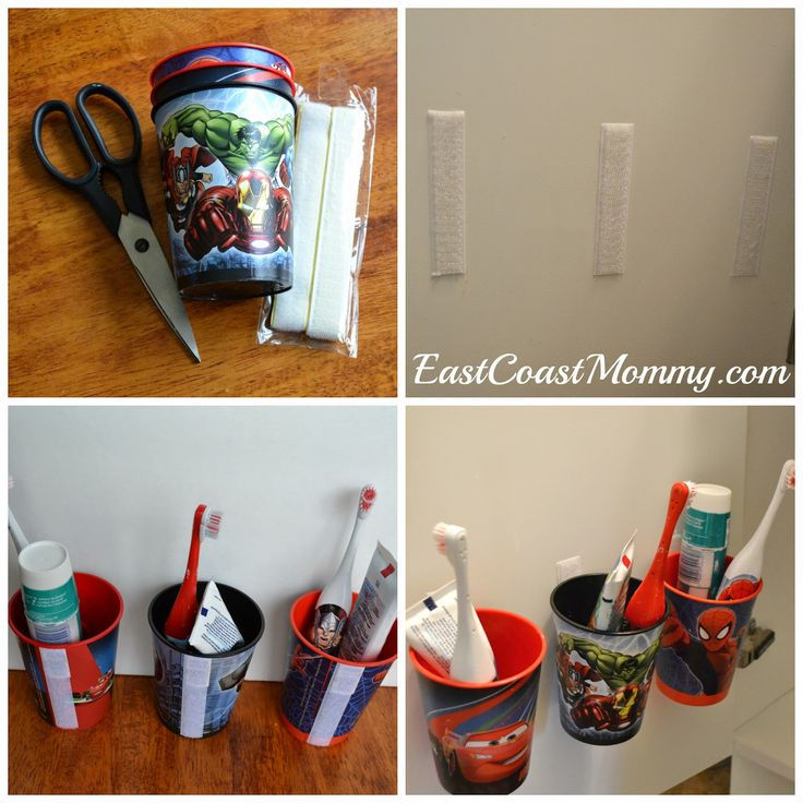 East Coast Mommy: Easy Toothbrush Organization