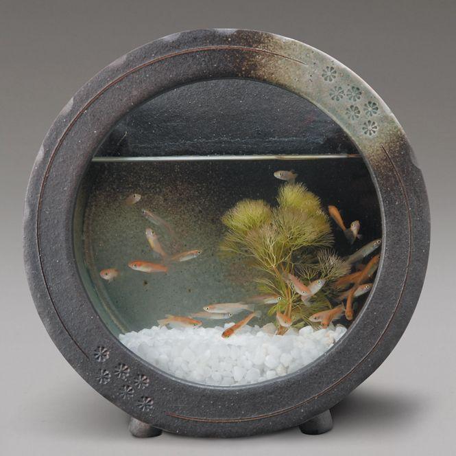 黒釉丸水槽
