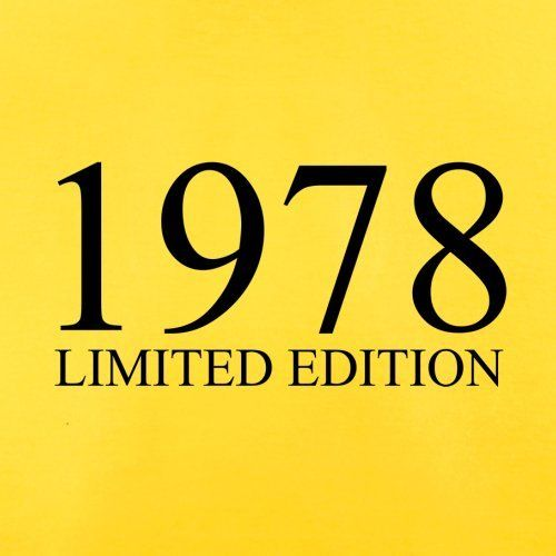 Dressdown Limited Edition 1978 – Mens T-Shirt – 13 Colours – 38th Birthday