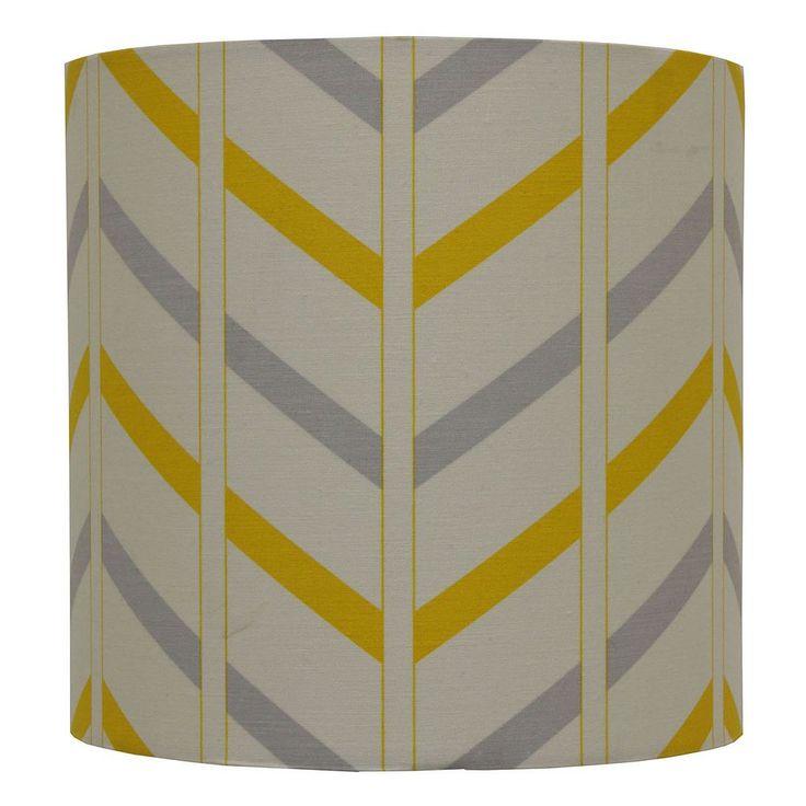 Decor Therapy Chevron Drum Lamp Shade, Yellow