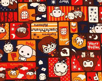 National Holiday in Korea till Oct 9th] Harry Potter Character Oxford Fabric made in Japan by the One Meter or 1.09 Yard