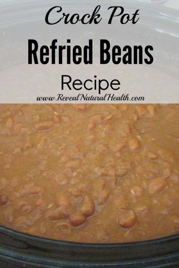 Crock pot refried beans are so easy there is no reason to buy cans anymore. This method can be also used for preparing other varieties of dry beans for later use in recipes.