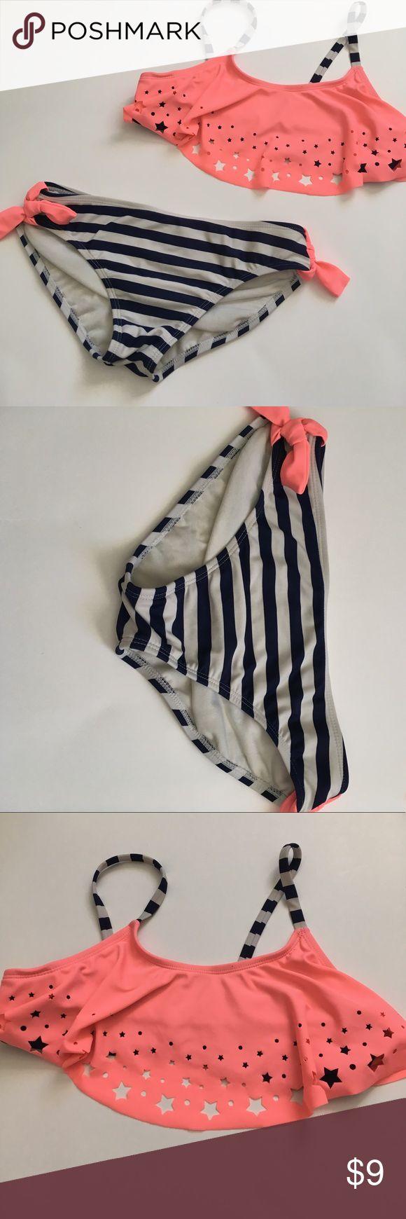 Stars and Stripes bikini from target Bikini from target😍 size 10-12 girls. Worn few times. target Swim Bikinis