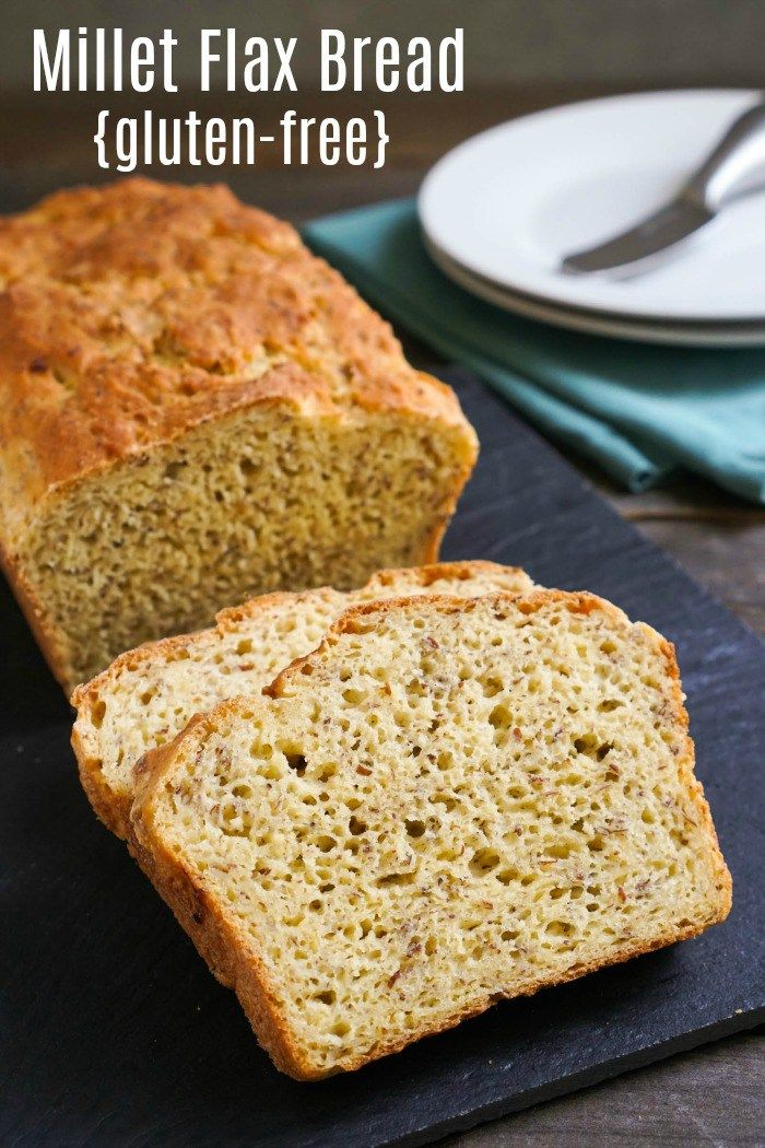 This Millet Flax Bread Recipe Is A Delicious Healthy Homemade Bread It Homemade Gluten Free Bread Gluten Free Bread Machine Recipe Gluten Free Bread Machine