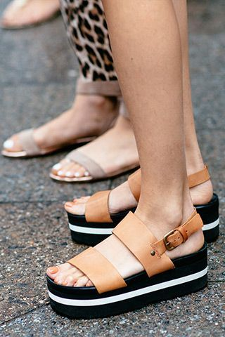 Street style perfection! Flatform sandals give you the comfort of a flat with a little extra lift for added height.