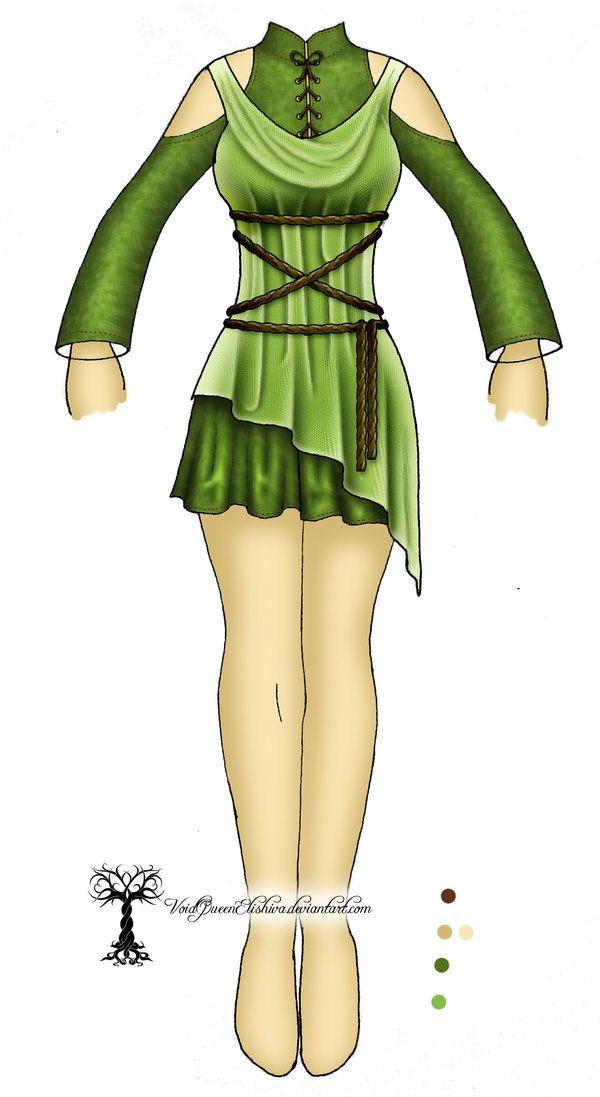 Saria Costume Design Concept by VoidQueenElishiva
