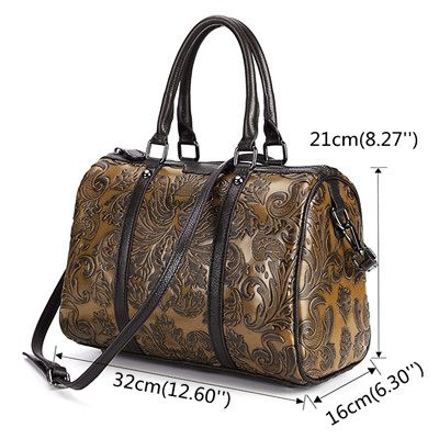 ff09d55478f4 Hot-sale designer Brenice Genuine Leather Women Shoulder Bag Vintage Brush  Color Embossed Craft handbag Online - NewChic Mobile