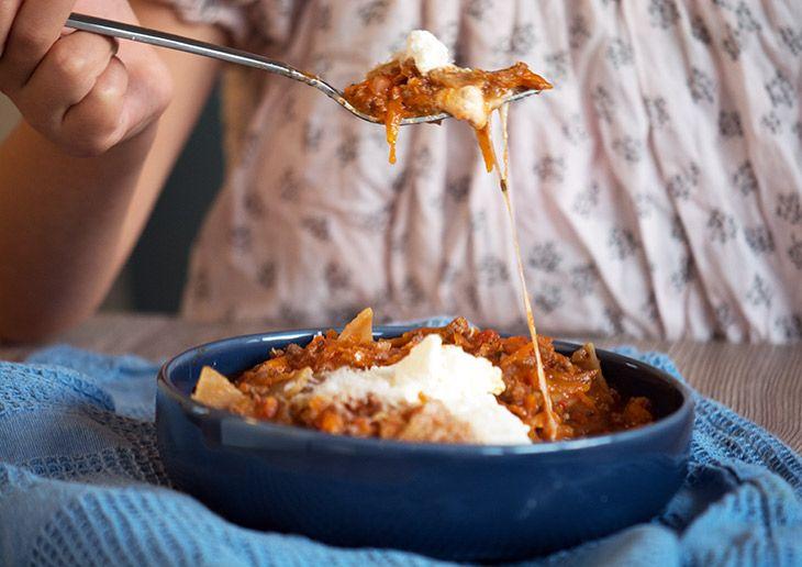 Lasagnesuppe - opskrift på en lækker suppe med lasagnesmag