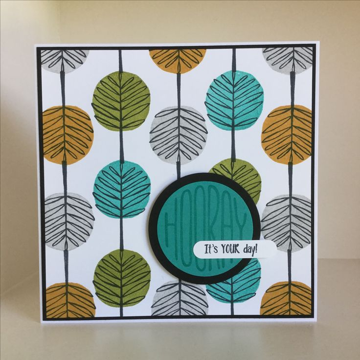 I had great fun with this card pattern building, again with Totally Trees and…