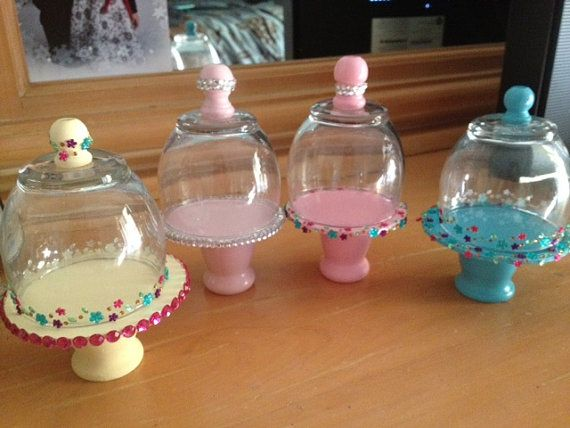 Dome Pedestal cake stand for American Girl Doll by lilyvictoria, $15.00