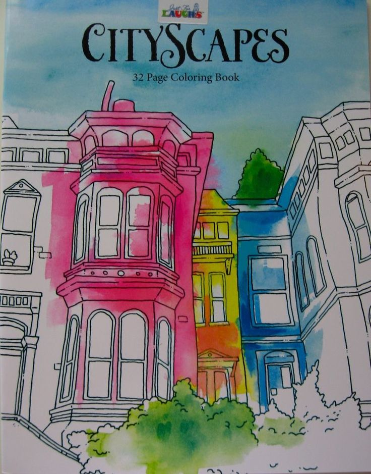 Adult Coloring Book Cityscapes NEW Stress Relieving And Relaxing