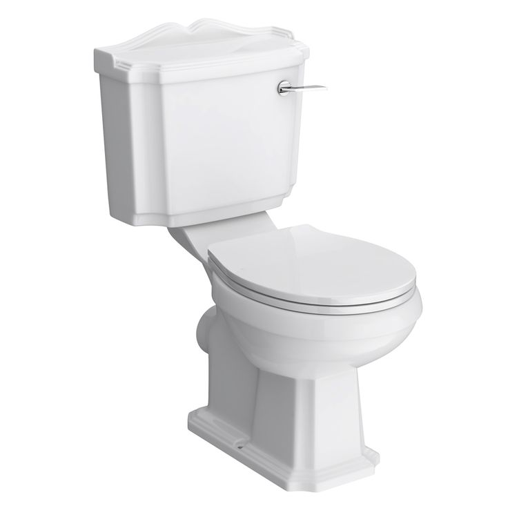The classically styled Oxford Close Coupled Traditional WC with Toilet Seat is ideal for period bathrooms. Comes complete with cistern fittings.