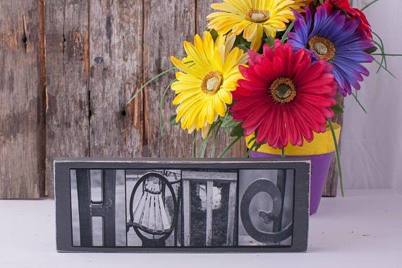 Casa in bianco e nero foto legno Sign  casa alfabeto
