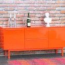 Sideboard New York Kommode Anrichte Highboard Schrank Möbel Hochglanz orange kaufen bei Hood.de